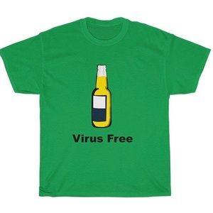 """BRAND NEW """"CORONA VIRUS FREE"""" TEE"""